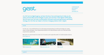 Geist Website Screenshot
