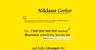 Niklaus Gerber Website Screenshot