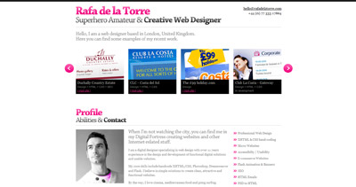 Rafa de la Torre Website Screenshot
