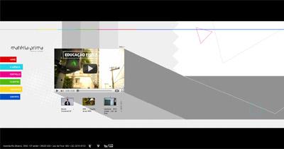 Matéria-Prima Comunicação Website Screenshot