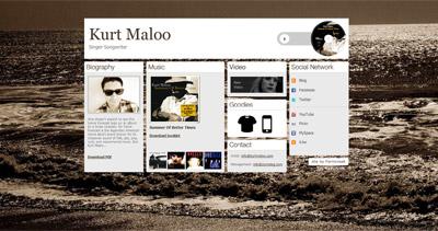 Kurt Maloo Website Screenshot