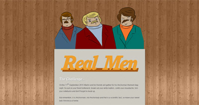 Real Men Website Screenshot
