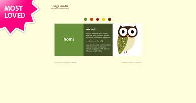 Sage Media Website Screenshot