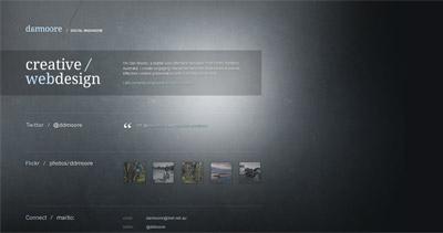 Dan Moore Website Screenshot