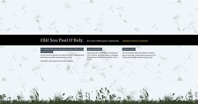 Paul O'Rely Website Screenshot
