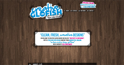 Creative Glofish Website Screenshot