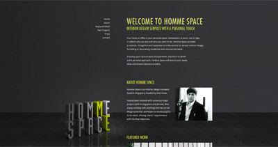 Homme Space Website Screenshot