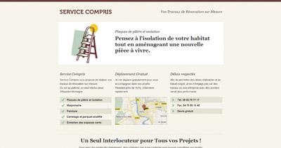 Service Compris Website Screenshot