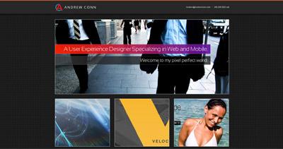 Andrew Conn Website Screenshot