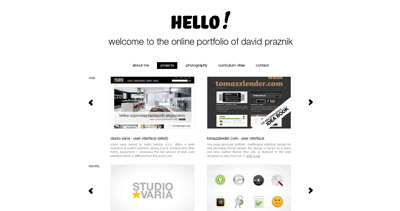 David Praznik Website Screenshot