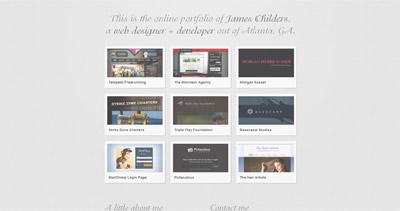 James Childers Website Screenshot