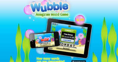 Wubble Website Screenshot