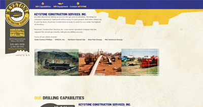Keystone Website Screenshot