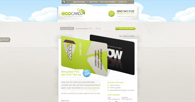 ecocard Website Screenshot