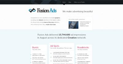 Fusion Ads Website Screenshot