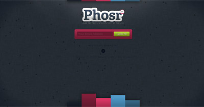 Phosr Website Screenshot