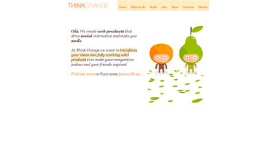 Think Orange Website Screenshot