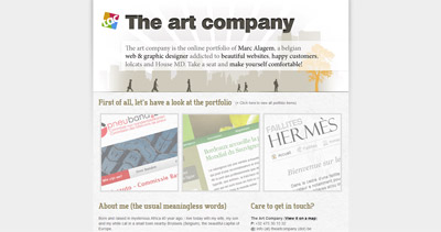 the art company Website Screenshot
