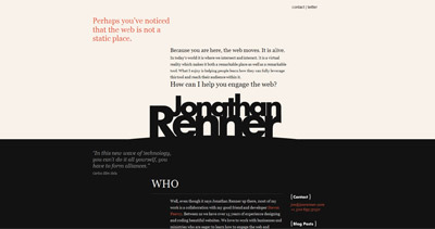 Jon Renner Website Screenshot