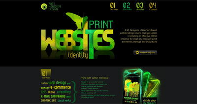 Ante Meridiem Design Website Screenshot