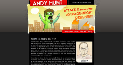 Andy Hunt Website Screenshot