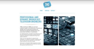 TMS Liveshows Website Screenshot