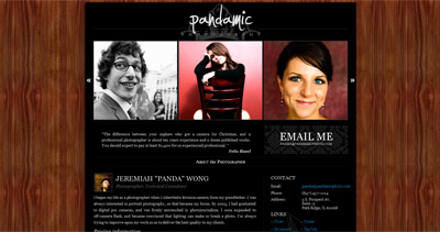Pandamic Photo Website Screenshot