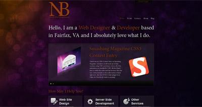 Nathan Burnett Website Screenshot