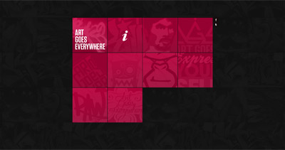 Art Goes Everywhere Website Screenshot