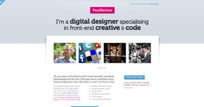 Paul Barlow Website Screenshot