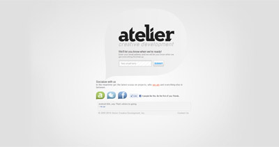 Atelier Website Screenshot