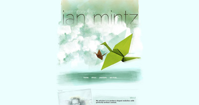 Ian Mintz Website Screenshot