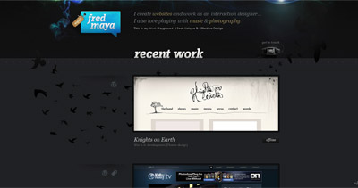 Fred Maya Website Screenshot