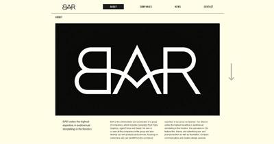 BAR Website Screenshot