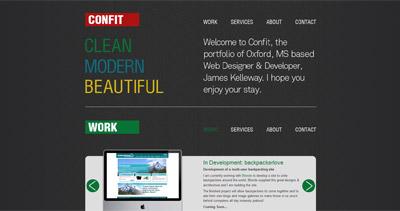 Confit Website Screenshot