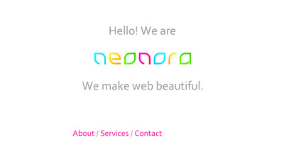 Neonora Website Screenshot