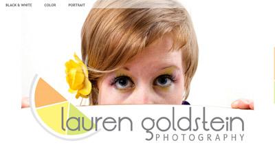 Lauren Goldstein Photography Website Screenshot