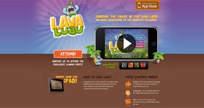 Lava Luau Website Screenshot