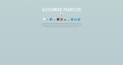 Alex Francois Website Screenshot