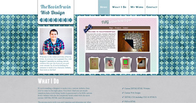 TheKevinIrwin Website Screenshot