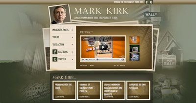 Mark Kirk Website Screenshot