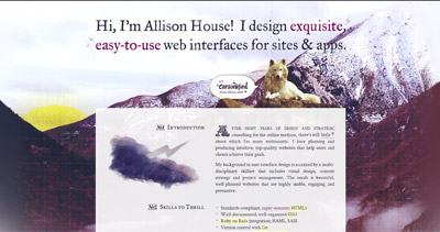 Allison House Website Screenshot