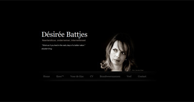 Désirée Battjes Website Screenshot