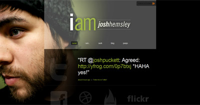 Josh Hemsley Website Screenshot