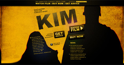 Kim – The Movie Website Screenshot