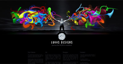 Lukas Designs Website Screenshot