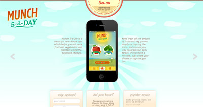 Munch 5-A-Day Website Screenshot