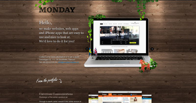 Monday Website Screenshot