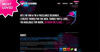 Timothy Achumba Website Screenshot