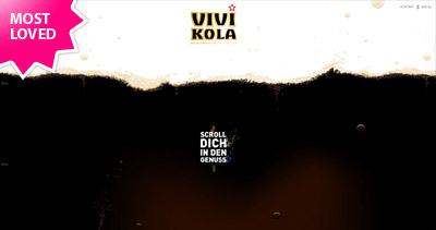 Vivi Kola Website Screenshot